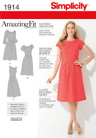 Plus Size Dress Patterns Awesome Simplicity 48 Misses' Plus Size Amazing Fit Dresses