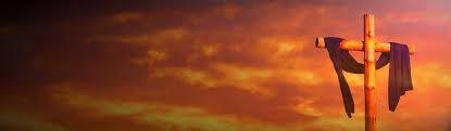 cross and easter sunrise background header