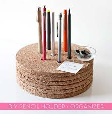 fun diy ideas for your desk create cork pencil holder cubicles ideas for