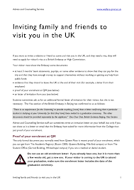 Collection Of Solutions Family Invitation Letter For Uk Visa