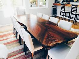 amazing live edge dining room table natural wood serving the greater seattle throughout black walnut decor