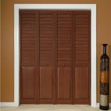 Decorating wicket door images : Captivating Cherry And Louvered Bifold Closet Doors Ideas In ...
