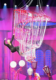 high flying antics pink showed off her acrobatic prowess as she was seen energetically