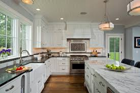 fascinating kitchens with white cabinets. Kitchen. White Wooden Beadboard Kitchen Cabinets With Black Countertop And Island Fascinating Kitchens K