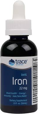 Trace Minerals Research, <b>Ionic Iron</b> Drops, <b>22 mg</b>, 2 fl oz (59 ml ...