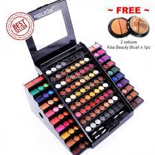 130 colors miss rose professional makeup academy palette free blush x 1pc