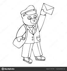 Beer De Postbode Bracht Een Brief Kleurplaten Voor Kinderen