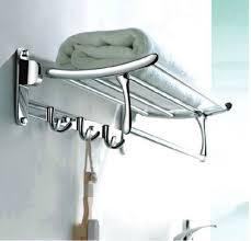 towel rack with hooks. Chrome Brass Wall Mounted Clothes Towel Racks Shelf W Hooks BAR Holder   EBay Rack With