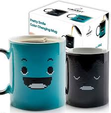 Plus, i don't know what materials are being used in promising review: Amazon Com Ingwest Morning Coffee Mug 11 Ounce Changing Color Mug For You And Your Friend Ceramic Heat Sensitive Color Changing Coffee Mug Novelty Heat Sensitive Mug With Funny Smile Kitchen Dining