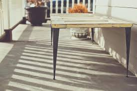 vintage door coffee table with angle iron legs diy desk standing patio furniture ideas