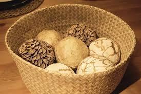 Decorative Woven Balls Interesting Home Decor Close Up Of Ornamental Decorative Balls In A Woven