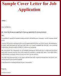 Covering Letter Format For Job Application Sample Sample Covering Letter For Job Application The Letter Sample
