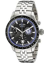 amazon co uk rotary watches outlet watches rotary gb90048 04 chelsea club chronograph 40mm steel bracelet and case swiss quartz black dial watch