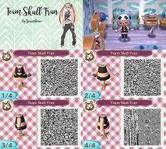 animal crossing new leaf qr code pokemon sun moon team skull girl fran  plumeria shirt black shirt with tattoo for… | Team skull, Animal crossing qr,  Animal crossing