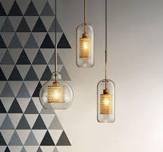 ramoona clear glass metal grill pendant lamp jpg
