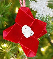 Ribbon Ornaments Make A Christmas Ornament From Red Velvet Ribbon Better Homes