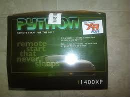 python 1400xp remote car starter afterdawn discussion forums Python 474P Remote Starter Manual it is still brand new in the box, with everything in the plastic, including instructions i did break the tape at the store to inspect the contents