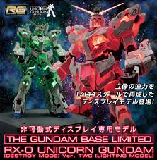Rg 1 144 Unicorn Gundam Destroy Mode Lighting Model Ver