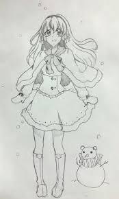 異国の冬の日 イラストコンテスト かわいい女の子のイラストを描い