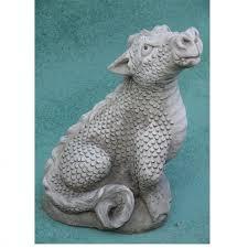 cast stone teracotta dragon sculpture