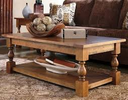 casual rustic wood coffee table with bottom shelf quality solid wood coffee table 3 image