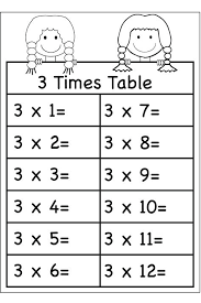 fancy times tables fun worksheets multiplication 3 x table printable
