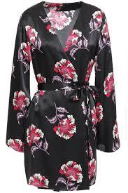 Designer Robes Sale Langley Floral Print Charmeuse Robe