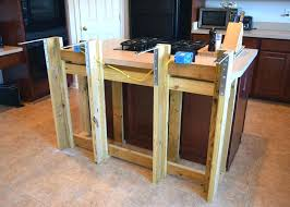 how to build a countertop frame breakfast bar how to build a kitchen island with luxury frame built an existing for