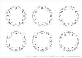 時計の学習用 文字盤と針のプリント幼児教材知育プリントちびむす