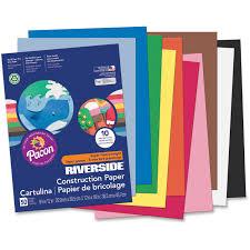 Riverside 3d Super Heavyweight Construction Paper Assorted Colors Assorted Colored Paper L