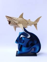 trend paper art create origami shark by nguy7877n hugraveng c4327901ng