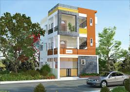 D Building Wallpaper  Arystudios - Modern apartment building elevations