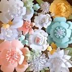 Оформление стены цветами из бумаги  шаблоны 6