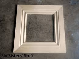 Making a picture frame Info Diy Crown Moulding Picture Frames Lowes 50 And Change Project Six Sisters Stuff Six Sisters Stuff Diy Crown Moulding Picture Frames Lowes 50 And Change Project