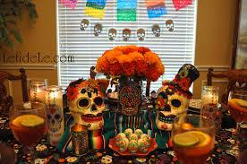 celebrate with a dia de los muertos day of the dead themed dinner party filled with decorative sugar skulls calaveras de azucar in español
