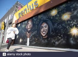 Kobe and Gigi Bryants wall art on ...