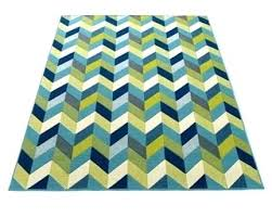 Green And Gray Rug Grey Road Navy Lime Blue White Chevron