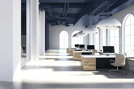 modern interior office. Delighful Office Open Space Office Interior Design White Modern  365 Portal Down   Throughout