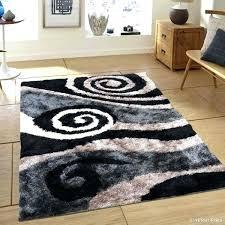 ikea high pile rug black grey modern swirl design thick high pile rug fantastic ikea hampen