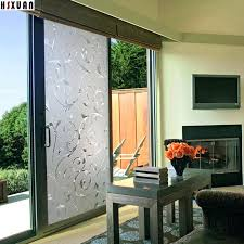 sliding glass door decorating ideas window privacy home decoration flower printing static stickers brand in