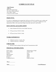 Different Types Of Resume Simple Various Types Resume Formats