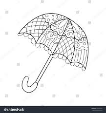 doodle coloring book page funny umbrella anti stress coloring for s and children