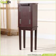 floor standing wooden jewelry box makeup organizer drawers wooden jewelry box mirror white floor jewelry
