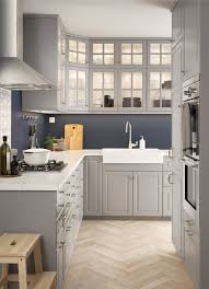 Ikea Kitchen Cabinets Doors New L Shaped Kitchen With Traditional
