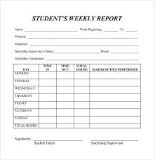 Sample Weekly Status Report Template School Weekly Status Report Template For Monitoring Student Progress