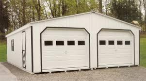 wood siding 2 car garages with gl in garage door