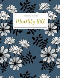 monthly bill organizer notebook read anglais monthly bill planner and organizer finance monthly