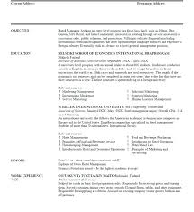Hotel General Manager Resume Template Inspiration Hotel General Manager Resume Objective Sales Hospitality Industry