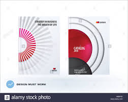 Creative Design Of Red Business Brochure Set Abstract Horizontal
