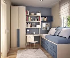 Small Bedroom With Desk Bedroom Small Bedroom Decorating Tips Using Red Wooden Loft Bed